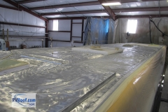 Showhauler-aluminum-roof-getting-ready-for-FlexArmor-roof-spray