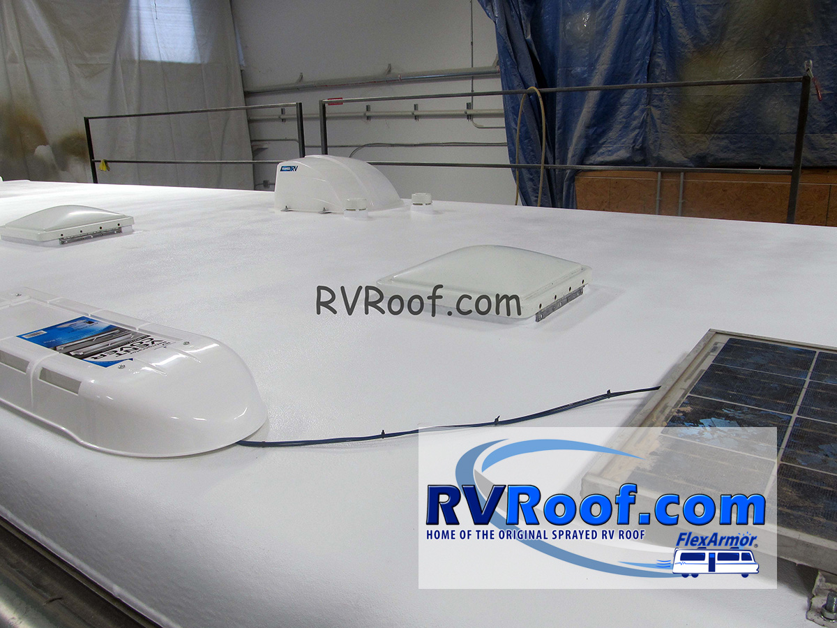 Solar panels with FlexArmor rv roof