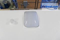 FlexArmor around skylight and sewer fixtures