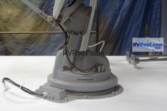 HD Satllite on RV with sprayed rv roof no leaks FlexArmor
