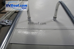 Ladder legs are sealed agains leaks with FlexArmor rv roof