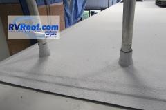 Ladder legs of FlexArmor roof