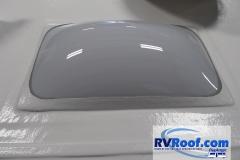 New installed polycarbonate skylight on Sprayed rv roof FlexArmor