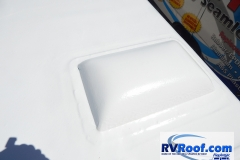 RV skylight sprayed over FlexArmor