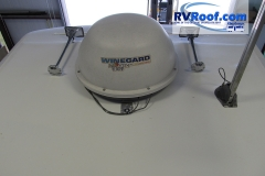 Satellite and Air Horns after FlexArmor rv roof applied