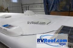 Solar panels with FlexArmor rv roof