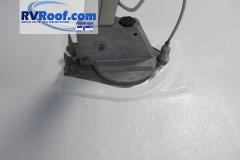TV antenna with sprayed rv roof FlexArmor