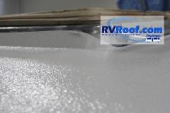 Vent frame sprayed rv roof FlexArmor