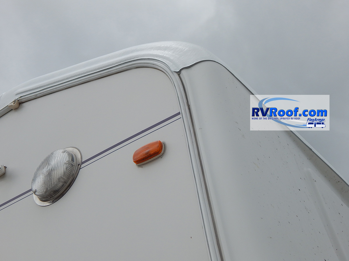 Rear corner fifth wheel FlexArmor roof