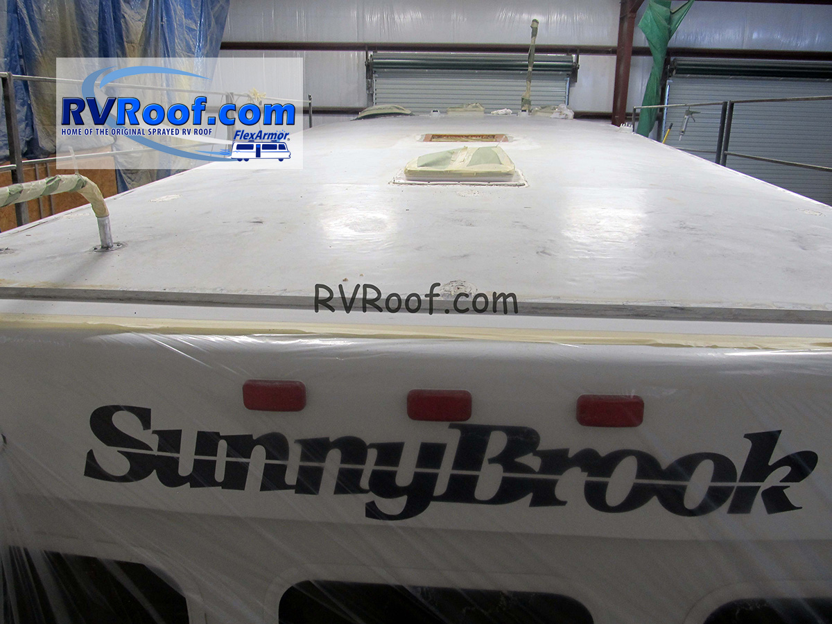 Sunnybrook fifth wheels are common brands done in FlexArmor shops_