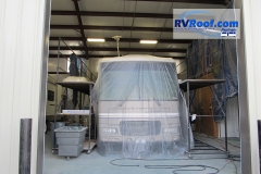 FlexArmor roofs are completed indoors and your rv protected