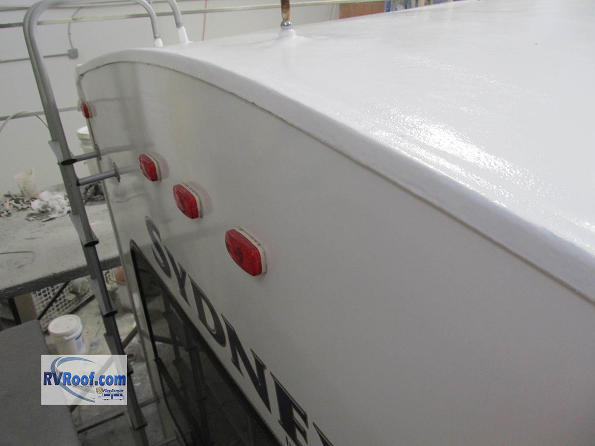 Sprayed RV roof RV FlexArmor-2520
