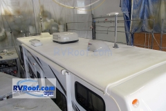 Sunseeker final with sprayed seamless rv roof rv flexarmor