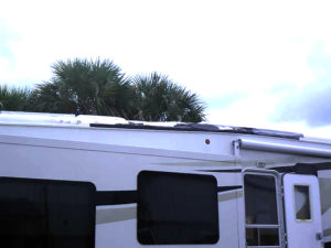 tree damage to an RV roof