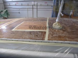 Prepping an RV for roof repair and FlexArmor application
