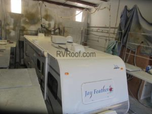 Camper after roof repair and FlexArmor application