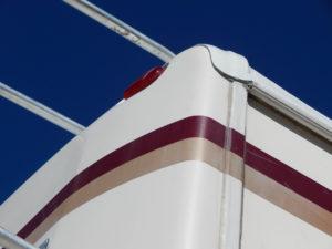 Thick edge of a FlexArmor RV Roof