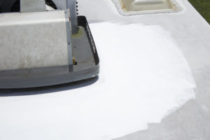 liquid rolled on rv roof prep and application
