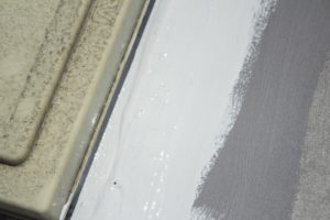 liquid rolled on rv roof prep and application over old caulk