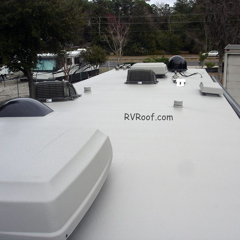 after picture of rv roof repair