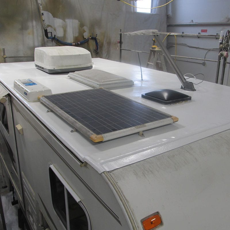 after picture of camper rv roof repair