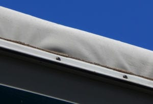 Wrinkles in an EPDM RV Roof on a Class A coach.