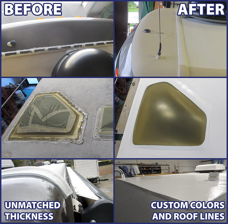 rv roof repair before and after pictures