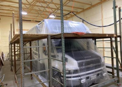 lifetime rv roof being installed on an endura