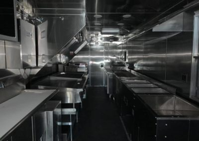 inside of a food truck