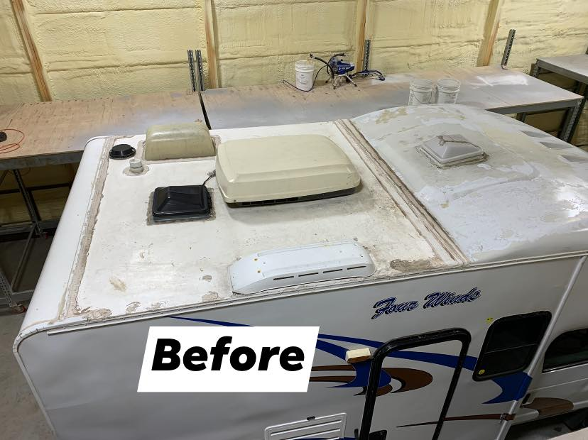 Lifetime RV Roof – Missouri Shop – Before and After
